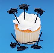 Small Plastic Graduation Cap Picks