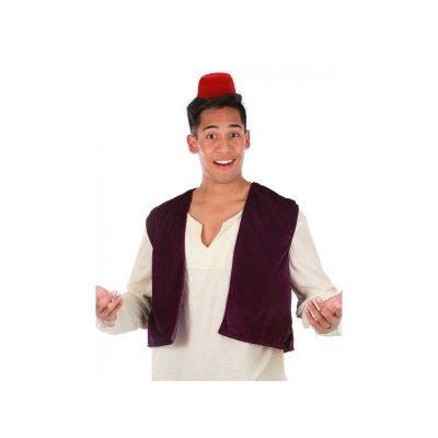 Disney Aladdin Vest Fez Hat Headband Set