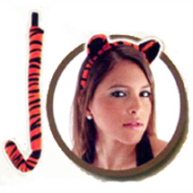 tiger ear tail costume accessory set