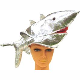 silver lame shark hat