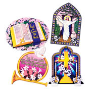 Religious Cutouts - 4 Assorted