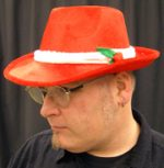 Red Holiday Fedora Hat