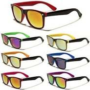 02a1331c85 Dark lens wire frame two color wayfarer sunglasses