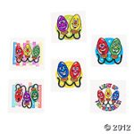 Glow In The Dark Christmas Tattoos - Assorted