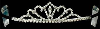 Rhinestone Tiara - Silver #124