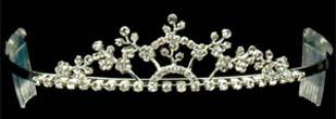 Rhinestone Tiara - Silver #189