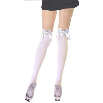 opaque thigh high with bow in back