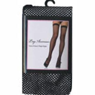 black fishnet thigh highs