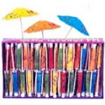 Mini Paper Umbrella Toothpicks Fruity Tropical Drinks