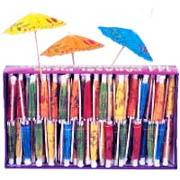 Mini Paper Umbrella Toothpicks Fruity Tropical Drinks