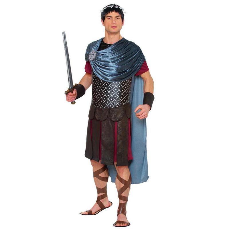 Roman Emperor Costume w Tunic, Cape, head wreath, and Cuffs