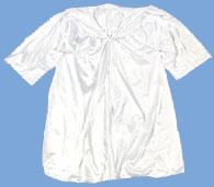 Childs Fabric Robe  White