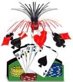 15 Inch Playing Card Centerpiece Casino Monte Carlo