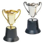 Loving Cup Trophies in Gold and Silver