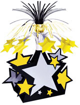Star Centerpiece - Silver Gold and Black