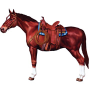 "38"" Jointed Horse  Cutout"