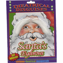 santa adhesive white eyebrows