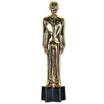 Male movie award statue