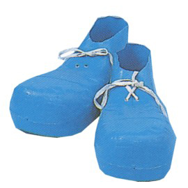 Jumbo Clown Shoes - Available in Red or Blue