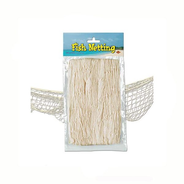 Fish net natural white decorative netting