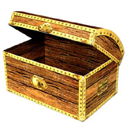 Cardboard Treasure Chest Box