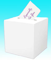 All Purpose White Card Receiving Box
