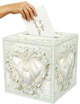 Bridal Card Box with Wedding Hearts