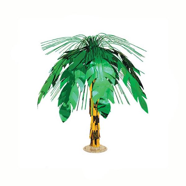 vinyl palm tree cascade centerpiece