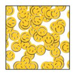 Smile Faces Confetti - Yellow