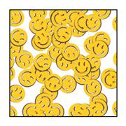 Smile Faces Confetti - Yellow