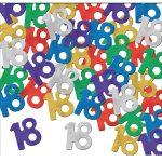 Number 18 Confetti