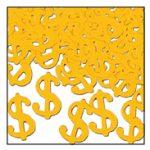 Dollar Signs Fanci Fetti  Gold