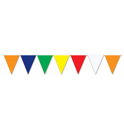 Multi Color Pennant Banner