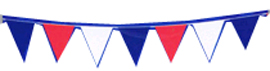 Red White Blue Outdoor Pennant Banner