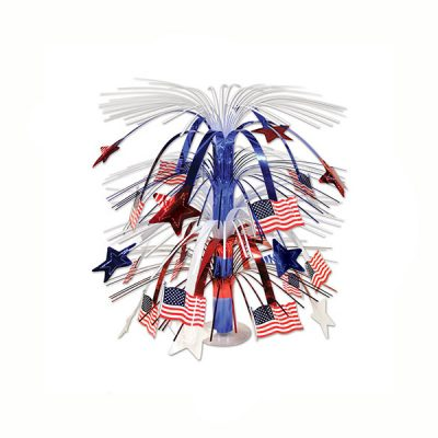 US Flag Cascade Centerpiece