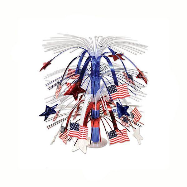 US Flag Cascade Centerpiece