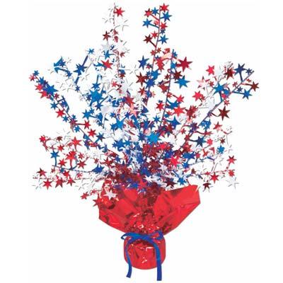 Patriotic balloon weight centerpiece