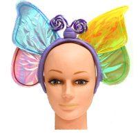 Costume Iridescent Fabric Butterfly Headband