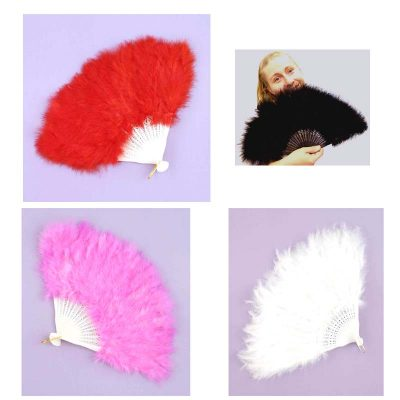 Feather Folding Fans