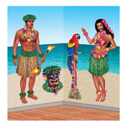 Insta-Theme Hula Girl & Polynesian Man Props