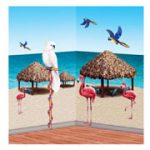 Tiki Hut and Tropical Bird Props