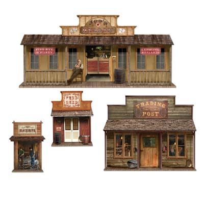 Insta Theme Wild West Town Props