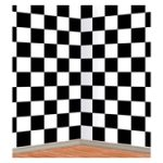 Black and White Checkered Backdrop for Soda Shop