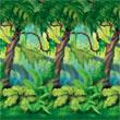 Jungle Trees Insta Theme Backdrop