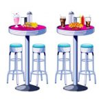 Soda Shop Tables and Bar Stools Props