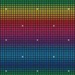 Disco inst-theme backdrop multi-colored