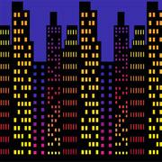 CityScape 4' X 30' Insta Theme Backdrop
