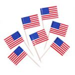 U.S. Toothpick Flags - 100/Pack