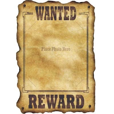 Wanted Poster - Old West Wanted Sign
