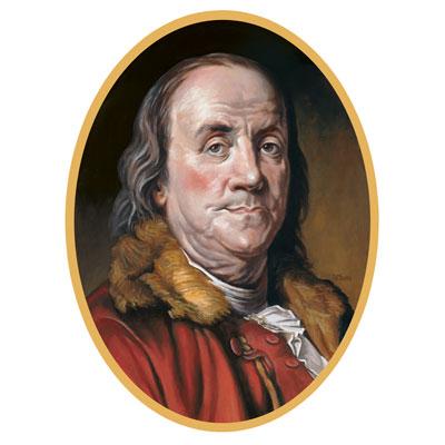 Ben Franklin cardboard cutout